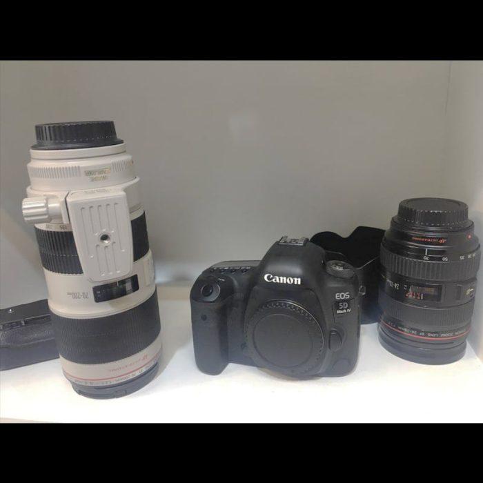 دوربین کنون 5d مارک ۴ کارکرده + لنز 70-200 f2.8 L دست دوم 1